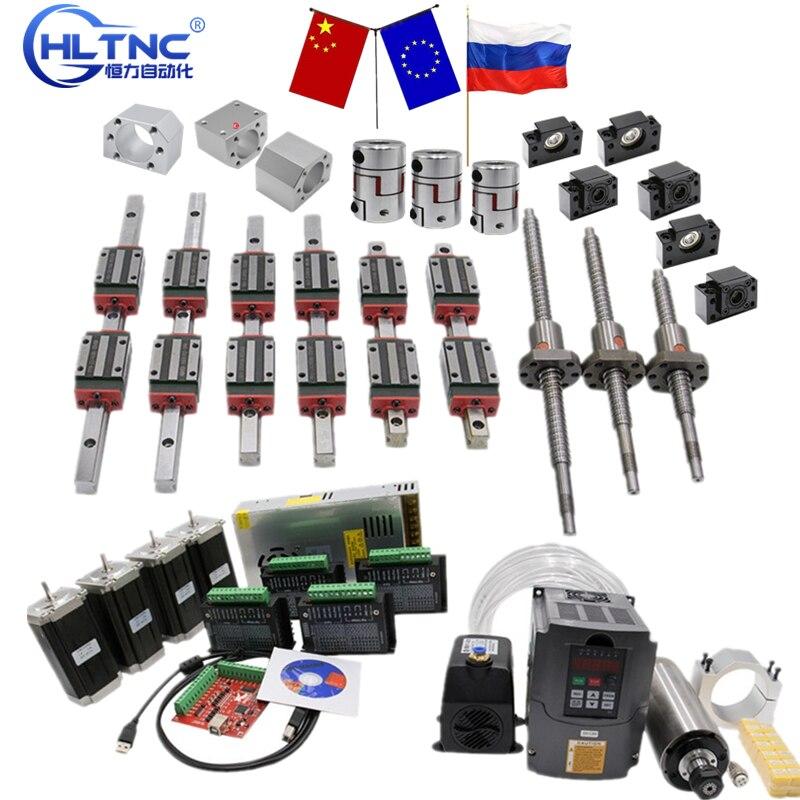 x y z axis cnc kit HGR20 HGW20CC HGH20CA sfu 1605 SFU1610 200mm  1500 set stteper motor ball screw square linear rail  for stage